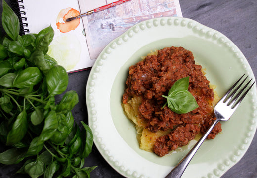 Spaghetti Squash with Bolognese - Green Spoon Kitchen
