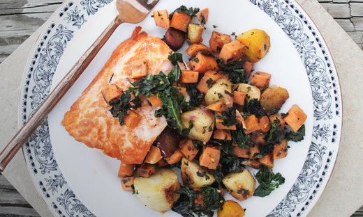 Whole30 Salmon and Root Vegetables