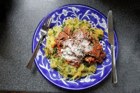 Ragu with Spaghetti Squash - Green Spoon Kitchen