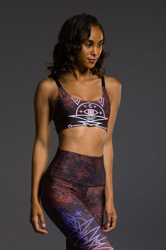 Onzie Graphic Elastic Bra - Power Ombre