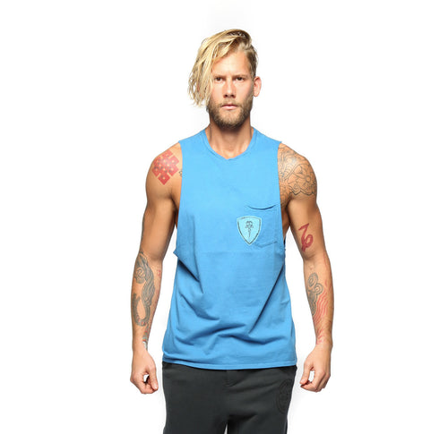 Electric & Rose Frey Mens Tank Tee Blue