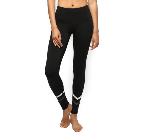 Electric & Rose Hurricane Yoga Leggings Black