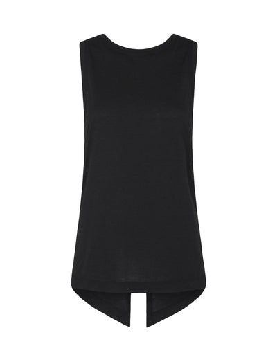 Vie Active Sydney Open Cross Back Tank Black
