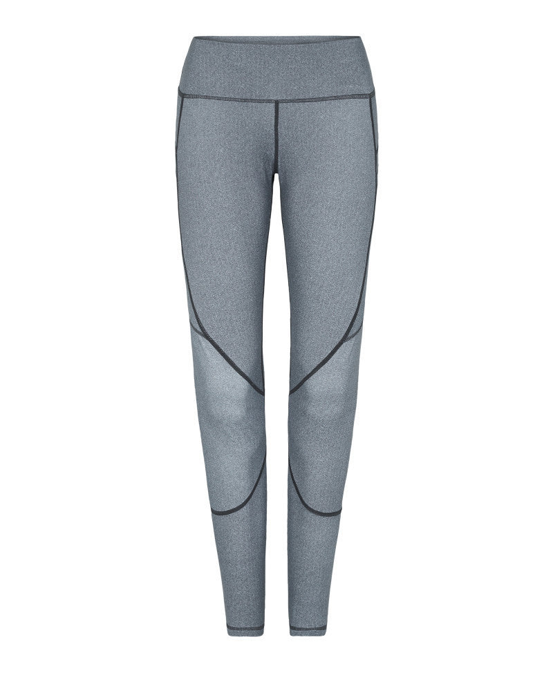 Vie Active Riley 7/8 Compression Tight Slate Grey Herringbone