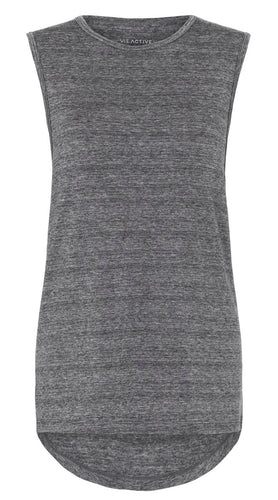 Vie Active Sasha Muscle Tank Top Heather Grey