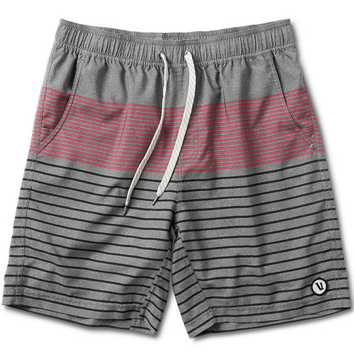 Vuori Kore Mens Active Shorts Saltwater Red Stripe