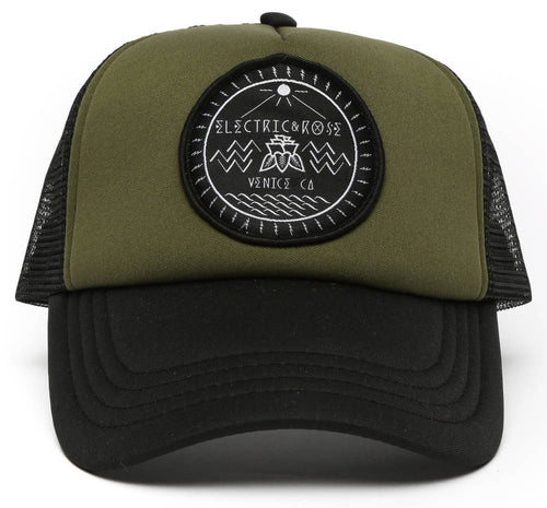 Electric and Rose Patch Hat - Army