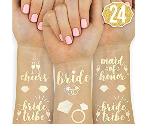 Flashy Tattoos for the Bride Squad (Set of 24)