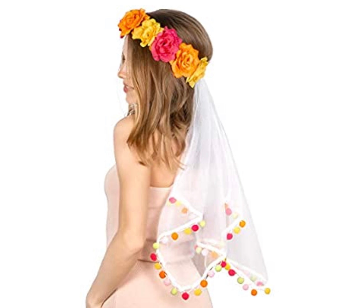 Tropical Veil for the Bride