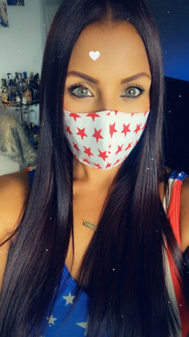 White - American Flag Mask