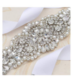 Rhinestone Belt (White)
