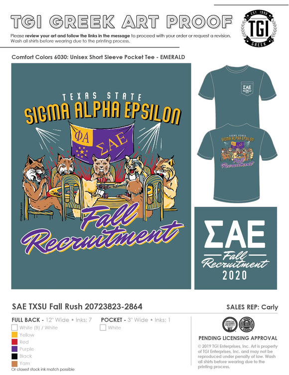 Sigma Alpha Epsilon Texas State Univ Fall 2020 Recruitment 20-7-23823