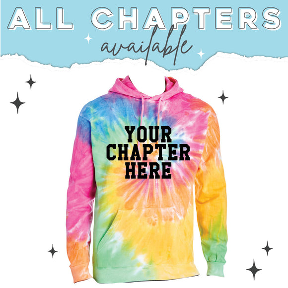 TGI Greek Sorority Tie Dye Hoodie (available for 17 sororities)