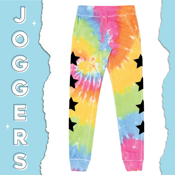TGI Greek Tie Dye Star Joggers