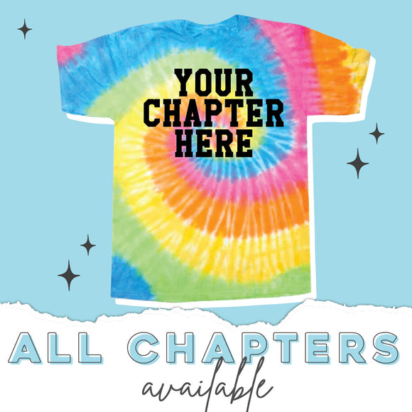 TGI Greek Sorority Tie Dye T-Shirt (available for 17 sororities)