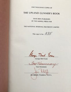 Upland Gunner's Book by George Bird Evans - Signed