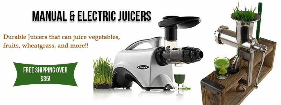 Manual and Electric Wheatgrass Juicers