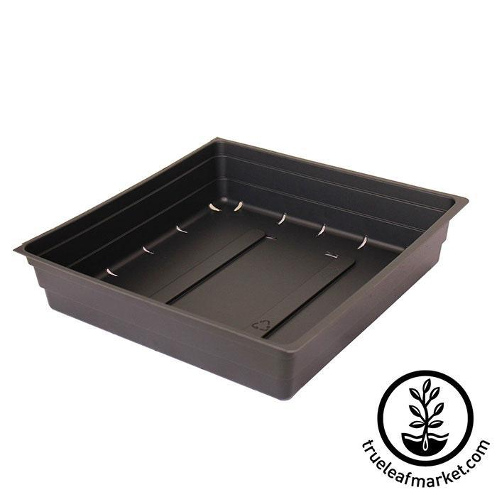 """Without Drain Holes 5 Pack of Durable Black Plastic Growing Trays 20/"""" x 10/"""""""