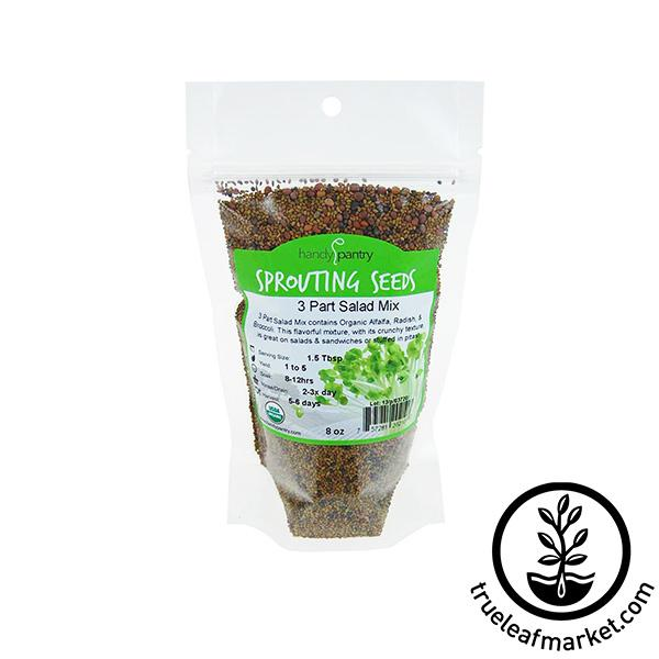 3 Part Salad Seed Mix (organic) - Sprouting Seeds