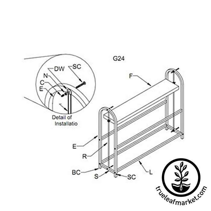 Four Tray (2 Shelves) Wide Growing Stand Instructions