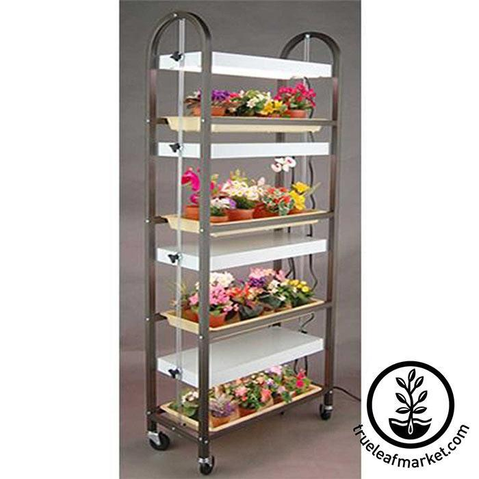Four Tray Tall (4 Shelves) Growing Rack for indoor and out door growing