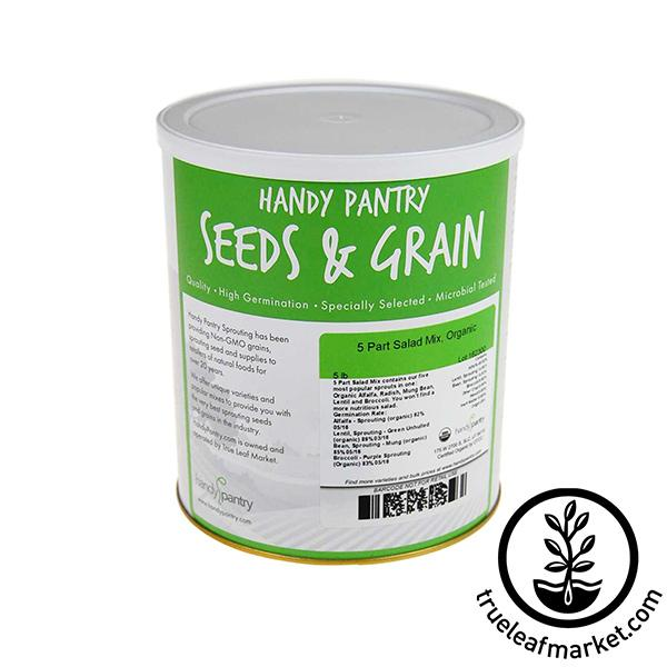 5 Part Salad Seed Mix (organic) - Sprouting Seeds
