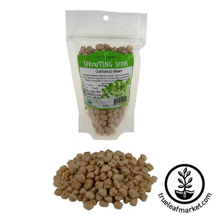 Garbanzo Beans for Sprouting - Organic 8 oz