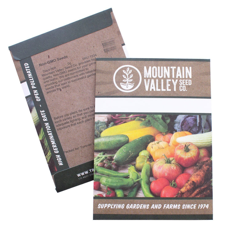 vates blue scotch curled kale seed packet