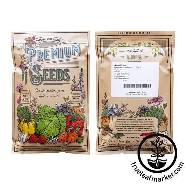 non gmo sweet marjoram seed bag