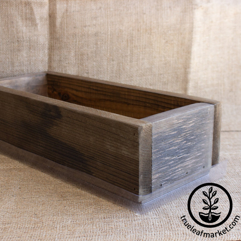barnwood planter brown