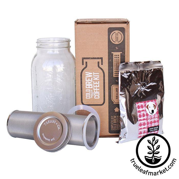 Stainless Steel Cold Brew Coffee and Tea Filter & Lid Contents