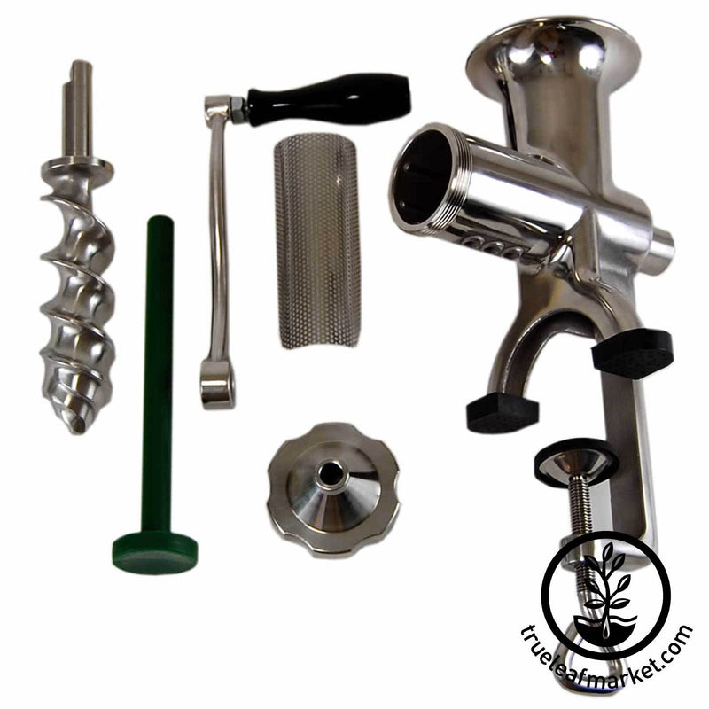 Hurricane Juicer: Manual Stainless Steel Wheatgrass Juicer - Parts