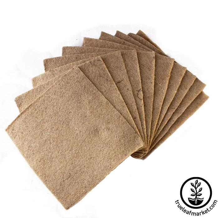 Jute Microgreens Grow Mats - 10x10 10 pack