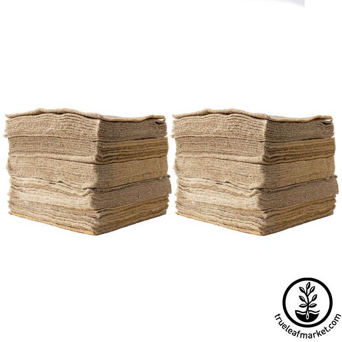 Jute Microgreens Grow Mats - 10x10 100 pack