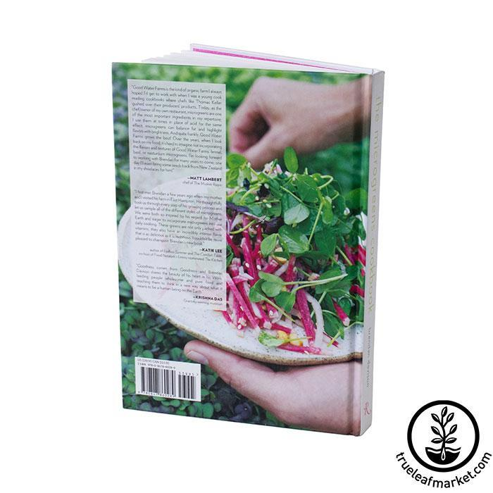 Book: The Microgreens Cookbook Back Cover