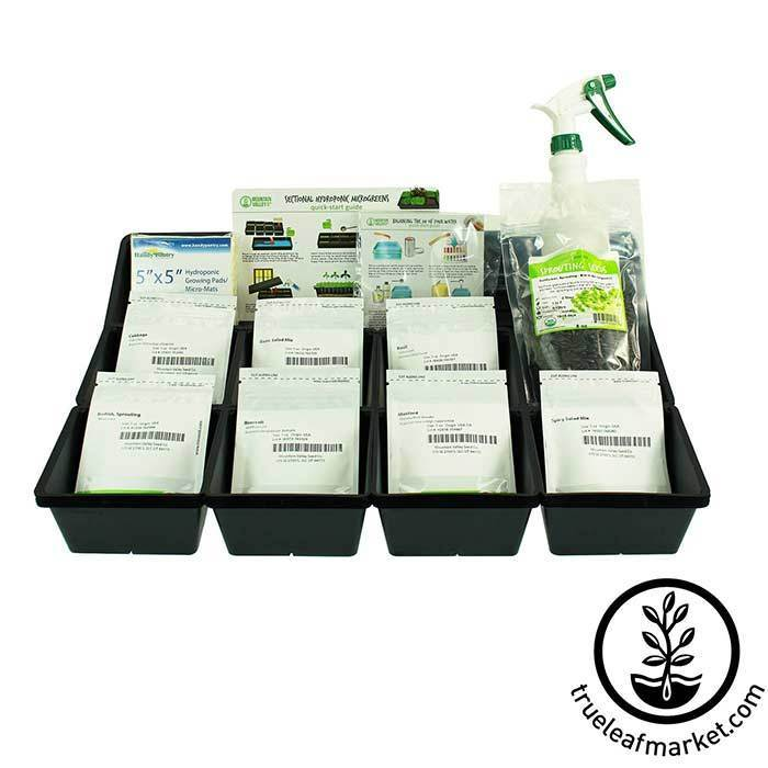 Sectional Hydroponic Microgreens Starter Kit