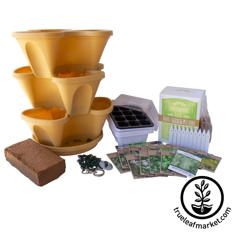 Complete Indoor Culinary Herb Garden Starter Kit - Tuscany