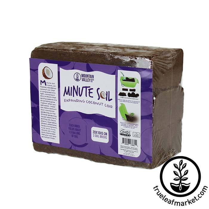 Minute Soil - Compressed Coconut Coir