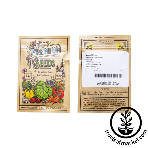 non gmo red veined sorrel seed bag