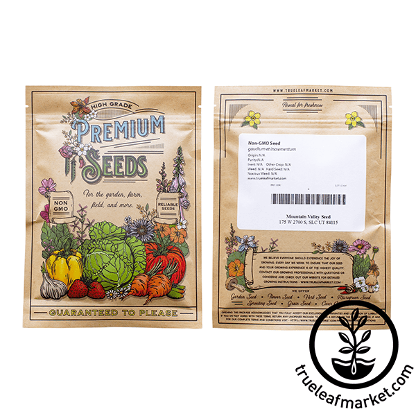 non gmo cayenne thick pepper seed packet