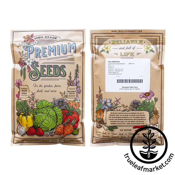 non gmo red cabbage microgreens seed bag