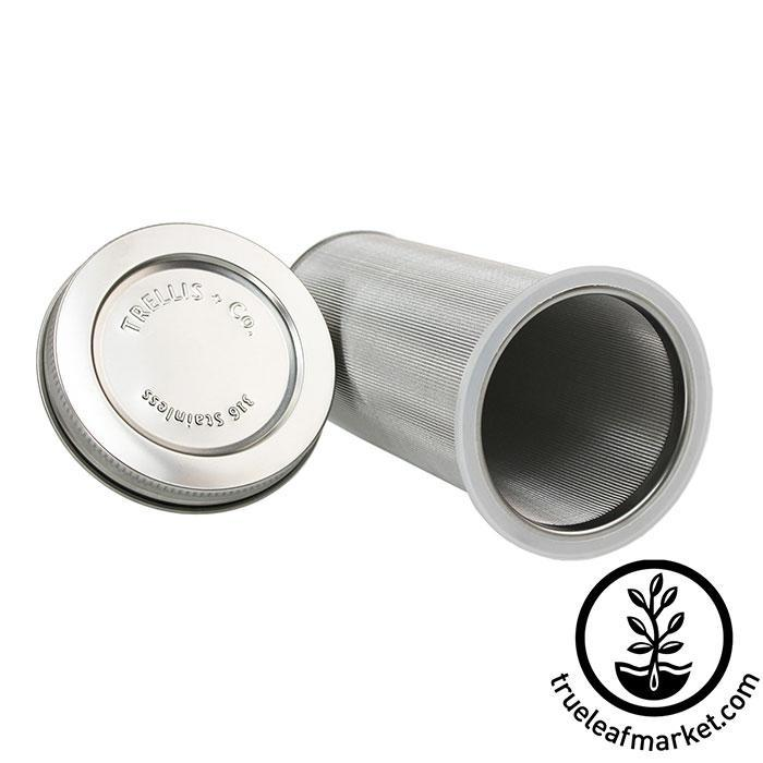 Stainless Steel Cold Brew Coffee and Tea Filter & Lid