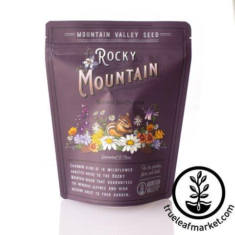rocky mountain wildflower mix in bag white background