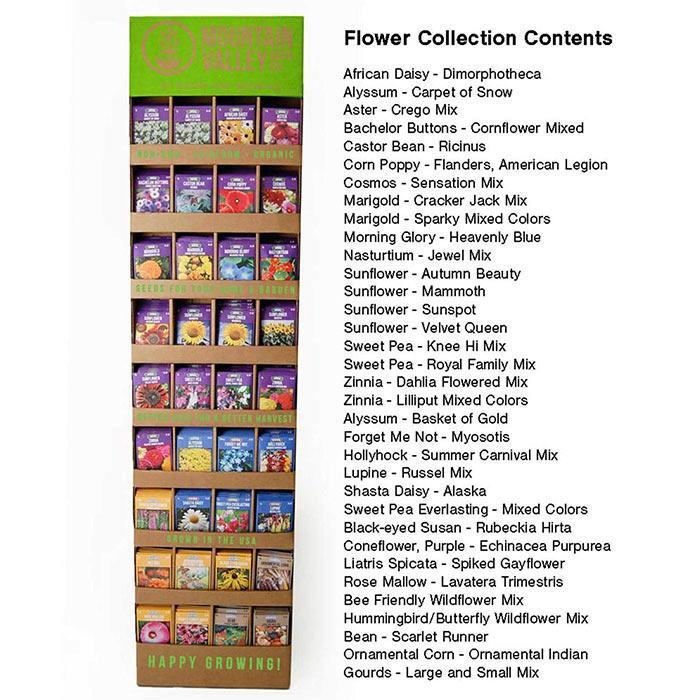 Flower Seed Rack - Bulk Seed Packets