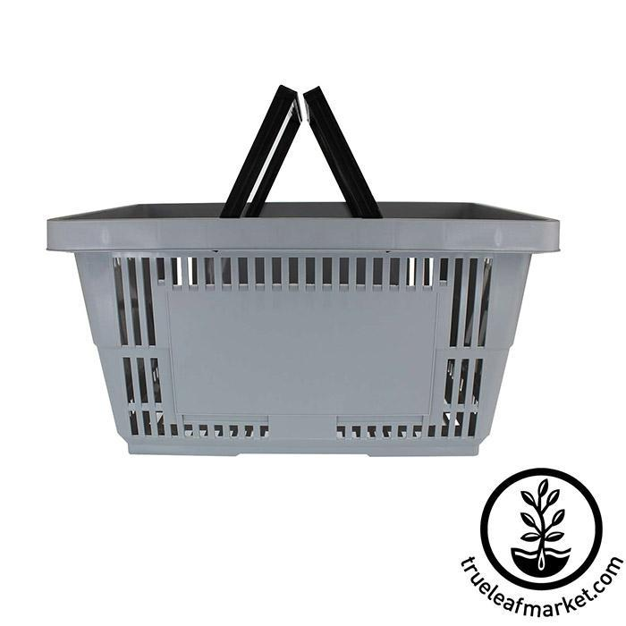 Gray Shopping Basket with Handle