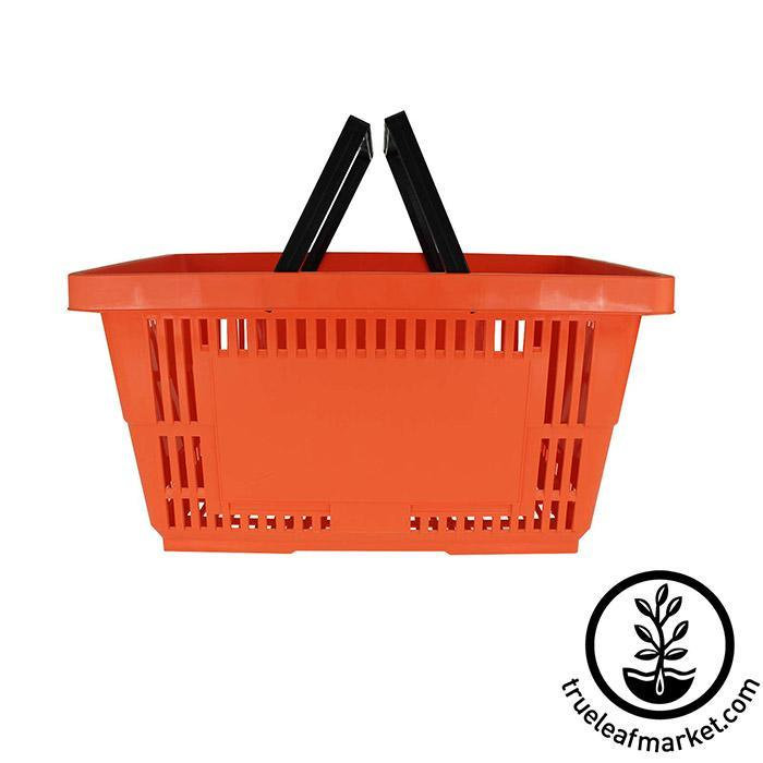 Orange Grocery Retail Basket with Handle