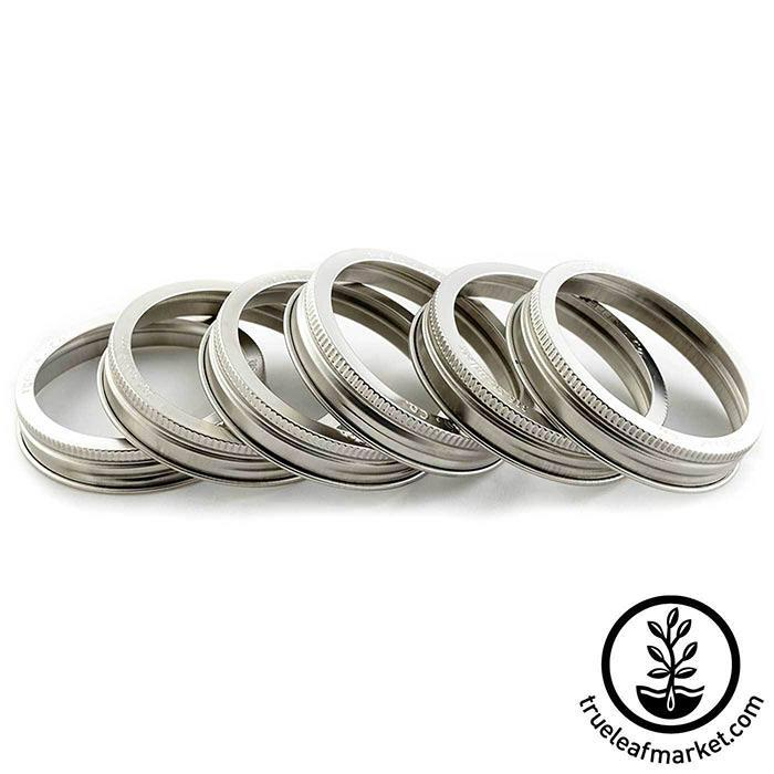 Stainless Steel Wide Mouth Jar Rings six pack