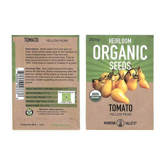 Non GMO Seeds - Tomato Vegetables Packet Size