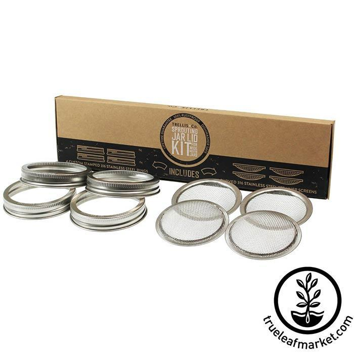 Stainless Steel Wide Mouth Sprouting Jar Lid 4 Pack