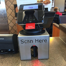 Credit Card Stand with 'Scan Here'